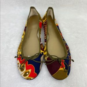 J Crew | Floral Fabric Ballet Flats *Italy*